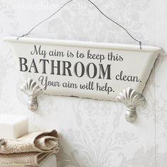 Bath Tub Hanging Sigh - My Aim...