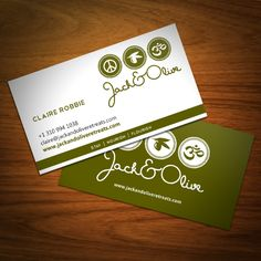 Jack&Olive Retreats business card