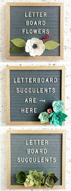 These letter boards are so fun! I love the combo of the letters with the felt succulents. Such a cute idea! This would be really cute home or nursery decor #decoridea #ad #succulents #nurserydecor #homedecor