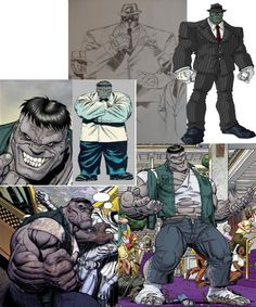"Character: The Grey Hulk, Mr. Fixit  Exercise:  Pec Deck.  Song: Boogie Man by AC/DC  ""I might be under the bed, ready to bite  So little girl becareful, when you're on your own tonight, 'Cause I'm you're boogie man..."""