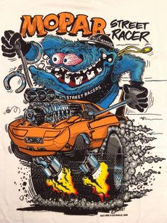 Love the artwork of Ed Roth. This is my place for Rat Fink, Roth Art and others that are Roth like. Any Rat Rod style art as well Rat Fink, Ed Roth Art, Cartoon Rat, Martial, Monster Car, Garage Art, Mopar Or No Car, Car Drawings, Big Daddy
