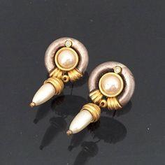 Vintage Jewelry Faux Pearl & Rhinestone by wandajewelry2013