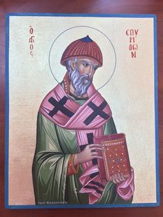 Saint Spyridon of Corfu - Handpainted Christian Orthodox Byzantine Icon   | eBay