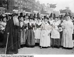 Welsh Suffragettes in traditional costume on the Women's Coronation Procession, 17 June 1911 by General Press Photo Company. Museum quality art prints with a selection of frame and size options, and canvases. Women In History, British History, Family History, Folk Costume, Costumes, Welsh Lady, Brave Women, London Museums, Press Photo