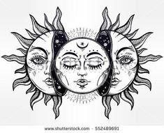 Image result for gothic sun and moon