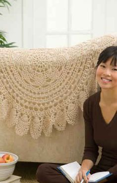 Best Free Crochet » Free Crochet Pattern Lacy Accent Doily From RedHeart.com