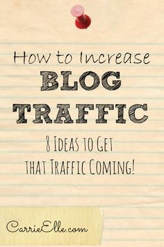 How I Increased My Blog's Traffic - 8 steps you can follow to grow your traffic (sorry...no secrets or magical shortcuts, but if you stay the course you'll get results!)