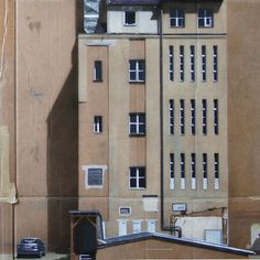 Urban Cityscapes Spray Painted on Cardboard Panels by German Street Artist EVOL