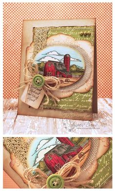 On the farm card designed by Mariana