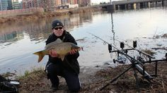 Winter carp fishing in Virginia on January 1st and catching some lovely common carp despite the cold weather.