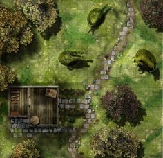 Gardmore Encounter 12: Groundskeeper s Cottage With images Fantasy map Map Tabletop rpg maps