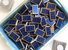 100 Custom Starry Night Wedding Matchboxes  Personalized
