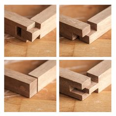 dovetail joint, lap joint, through-dowel joint, and open through mortise and tenon joint