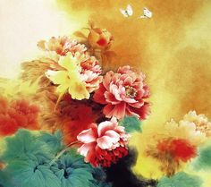Chinese Gongbi Paintings by Zou Chuan An