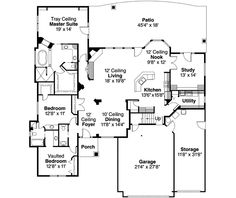 Craftsman Style House Plan - 3 Beds 2.5 Baths 3126 Sq/Ft Plan #124-494 Floor Plan - Main Floor Plan - Houseplans.com