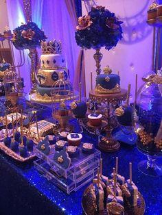 "Royal prince / Birthday ""First Birthday "" Fiesta Baby Shower, Baby Shower Parties, Baby Shower Themes, Baby Boy Shower, Royalty Baby Shower Theme, Shower Ideas, Prince Birthday Theme, Blue Birthday, Royal Birthday Parties"