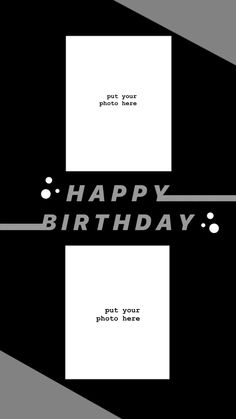 Creative Instagram Stories, Instagram And Snapchat, Instagram Story Ideas, Instagram Quotes, Photo Instagram, Happy Birthday Template, Happy Birthday Frame, Birthday Ideas, Photo Collage Template