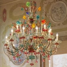 Seguso venetian chandelier shelter pinterest coloured glass a truly stunning specimen of 126 lights venetian chandelier rezzonico style multicolor sea green and ruby red double floor enriched by glass paste aloadofball Gallery