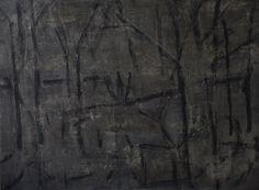 #Art #Artist #Portugal #Oporto #French #Gallery Jean Pierre Porcher Nuit au Jardin - 138)12 2014 Painting on paper on aluminum  63 cm x 83 cm