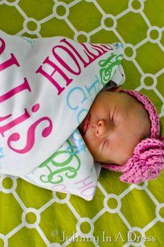 monogrammed baby blanket!! WANT
