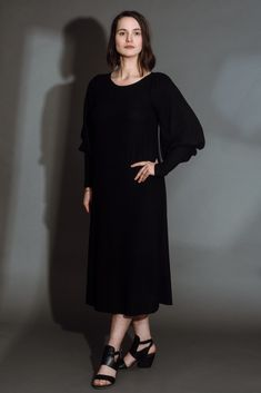Bishop Sleeve Sweater Dress - Altar PDX