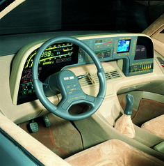 ItalDesign Orbit, 1986 - Interior~ahead of its time , eh?