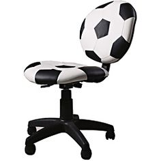 This kids' chair is the perfect addition to your home office, child's study area or dorm room. This furniture features a fun finish for a sports fan. Materials: PVC, plastic, frame, foam Pattern: Socc