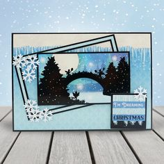 Twilight Kingdom - Luxury Topper Set - Frosted Forest - A Magical Christmas - Twilight Kingdom Card Unique Christmas Cards, Handmade Christmas Gifts, Magical Christmas, Christmas Wishes, Xmas Cards, Christmas Themes, Homemade Christmas, Christmas Holidays, Halloween Creatures