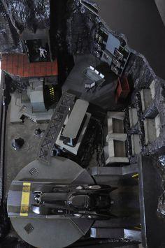 batcave diorama top view by gelamay on DeviantArt Batman Batcave, Batman Batmobile, Batman 1966, Batman Arkham, Batman And Superman, Batman Comics, Lego Batman, Batman Concept Art, Batman Cowl