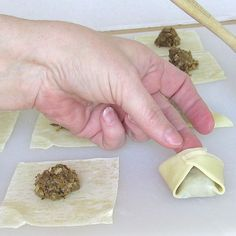 Polish Dried Mushroom Pierogi, Nalesniki and Uszka Filling: Pressing the Two Points of the Uszka Together