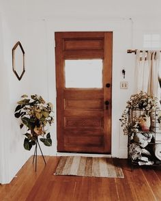 Bring character to the front door white, wood