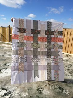 Ribbon quilt top is done pattern from Cloud 9 Ribbon Quilt, Cloud 9, Quilt Top, Quilts, Blanket, Sewing, Pattern, Dressmaking, Couture