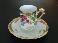 Flambeau Limoges France 1890's-1914 chocolate/cocoa cup