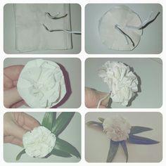 Silkespapper blir söta blommor, steg för steg, enkla att göra, diy, craft, paperflowers