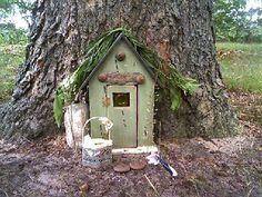 Tree Stump Fairy House Full Size Of Inspiring Ideas Tales On Stumps Garden Stool Fair Magic Garden, Fairy Garden Houses, Gnome Garden, Dream Garden, Garden Art, Fairy Gardens, Miniature Gardens, Fairy Tree Houses, Fairy Doors On Trees