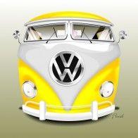 Vector VW Bus - CorelDRAW X6 - Fluid