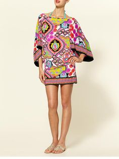 swimsuit coverup pink tribal