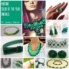 Free DIY Jewelry Projects in Pantone Color of the Year: Emerald