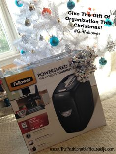 Give The Gift Of Organization This Christmas!   #GiftFellowes #sponsored #IC