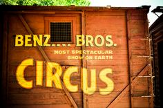 """from the set of Water For Elephants """"Grossmont Hillers Circus"""" Circus Train, Circus Art, Circus Theme, Circus Peanuts, Water For Elephants, Elephant Theme, Fun Fair, Vintage Circus, Filming Locations"""