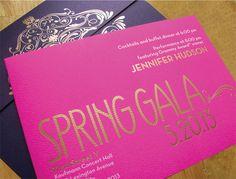 92Y Spring Gala Invitation 2013 by Christie Morrison, via Behance