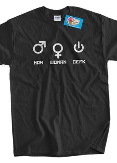Computer Geek TShirt Funny Nerd Man Woman Geek by IceCreamTees, $14.99