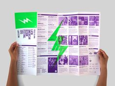 Poster and programme for Latin American Design Festival by IS Creative Studio