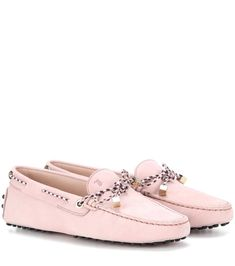 TOD'S Heaven Lacetto Suede Loafers. #tods #shoes #flats
