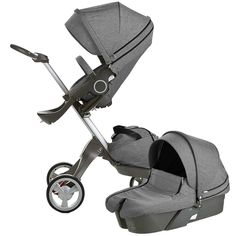 Stokke XPLORY Newborn Stroller - Black Melange