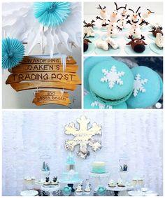 Frozen Birthday Party Celebration via Kara's Party Ideas KarasPartyIdeas.com #frozen #frozenparty #karaspartyideas Printables, desserts, supplies, invitations, and more! (2)