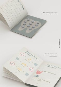 BOOK&PILL by Tylor Lee, via Behance