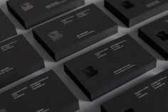 Brandlab business cards with black block foil detail.
