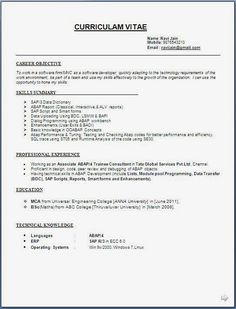 Job Specific Resume Templates Job Specific  Pinterest  Resume Format And Template