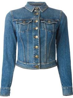 Burberry Brit Jaqueta Jeans Cropped - Boutique Tricot - Farfetch.com